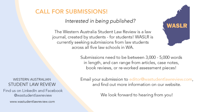 WASLR - Call For Submissions
