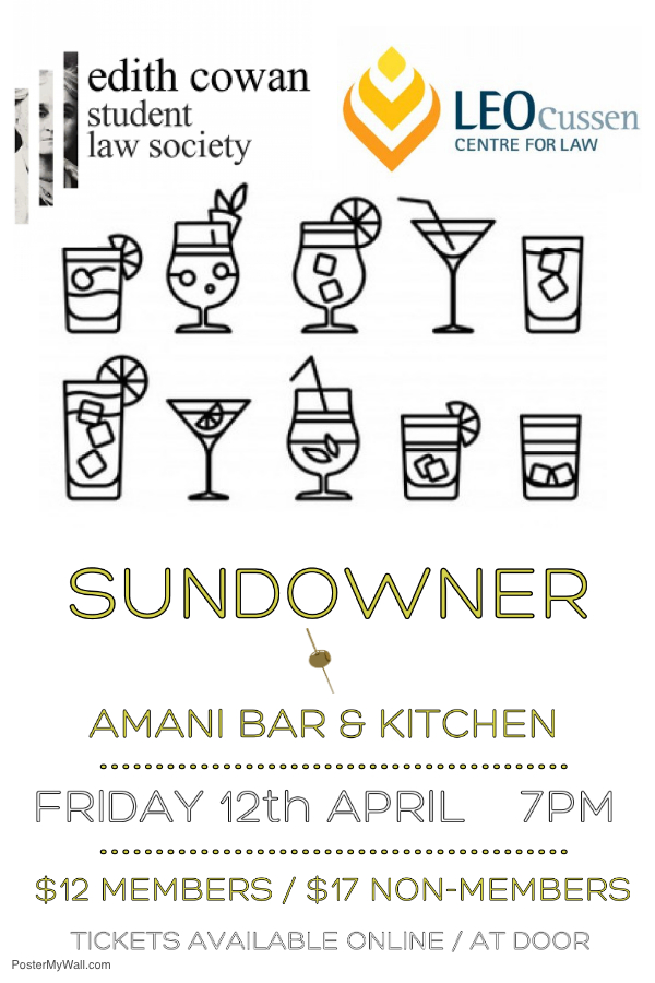 ECSLS April 12 sundowner